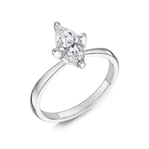 0.4 Carat GIA GVS Diamond solitaire 18ct White Gold Marquise cut Engagement Ring, MWSS-1198/040